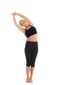 Standing Arm Pull and Bend Stretch